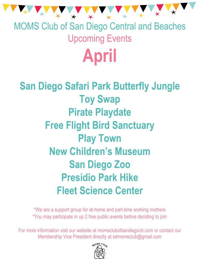 Upcoming Events April
